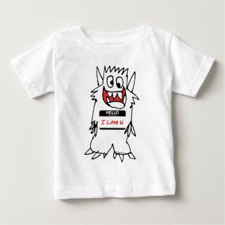 Hello, I Love U Monster Baby T-Shirt