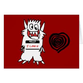 Hello, I Love U Monster Card