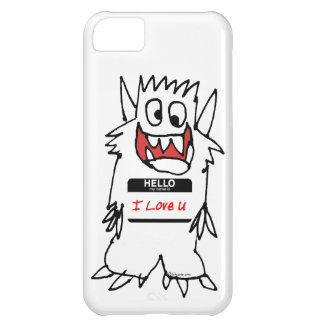 Hello, I Love U Monster Case For iPhone 5C