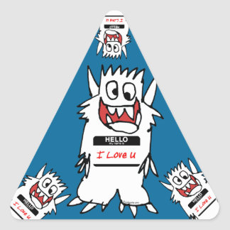 Hello, I Love U Monster Sticker