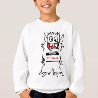 Hello, I Love U Monster Sweatshirt