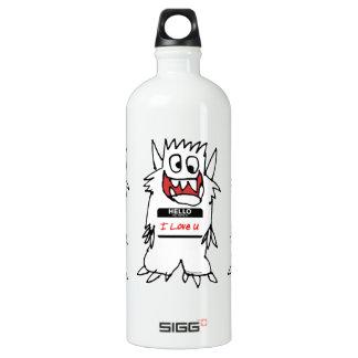 Hello, I Love U Monster Water Bottle