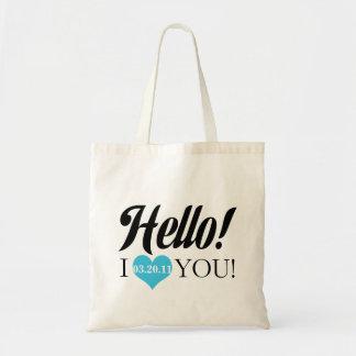 Hello, I Love You Budget Tote Bag