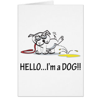 Hello I'm a Dog ! Card