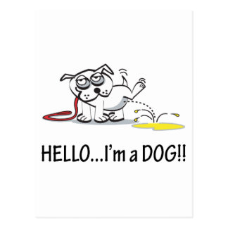 Hello I'm a Dog ! Postcard