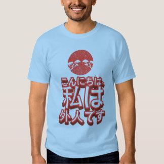 """Hello, I'm a Gaijin"" Ironic Japanese Tee Shirt"