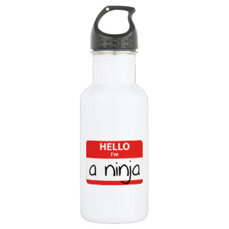 Hello I'm A Ninja Water Bottle
