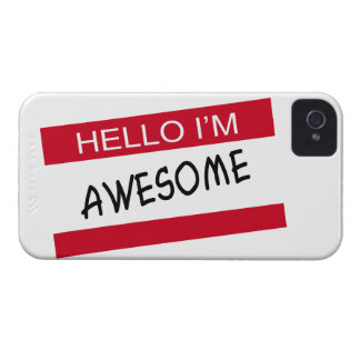 Hello Im Awesome iPhone 4 Case-Mate Case