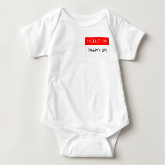 Hello I'm Daddy's Girl Baby Bodysuit
