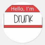 Hello, I'm drunk Sticker
