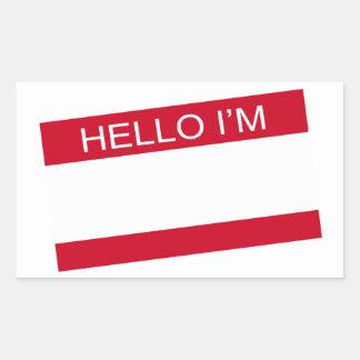 Hello Im Rectangular Sticker