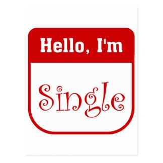 Hello, I'm single postcard