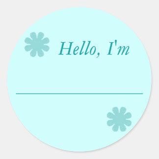 """Hello, I'm....."" Stickers"