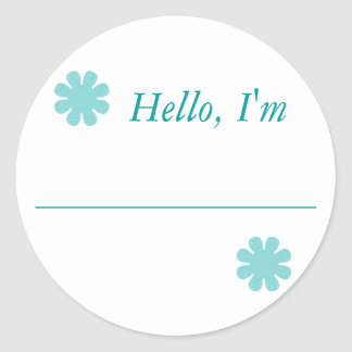 """Hello, I'm....."" Classic Round Sticker"