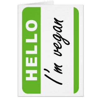 Hello I'm Vegan Greeting Card