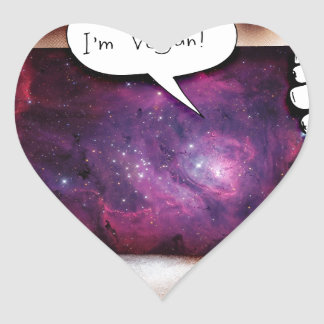 Hello, I'm Vegan Heart Sticker