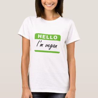 Hello I'm Vegan T-Shirt
