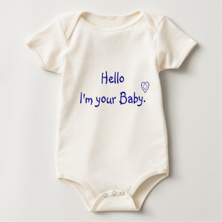 Hello I'm your Baby-line art Baby Bodysuit
