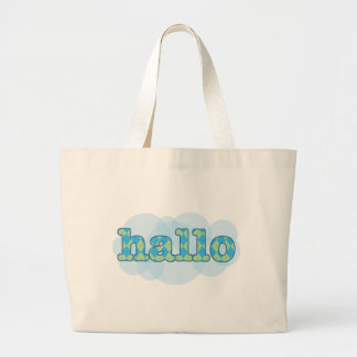 Hello in afrikaans hallo with argyle pattern jumbo tote bag