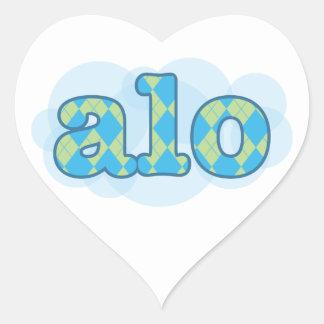 Hello in creole - alo heart sticker