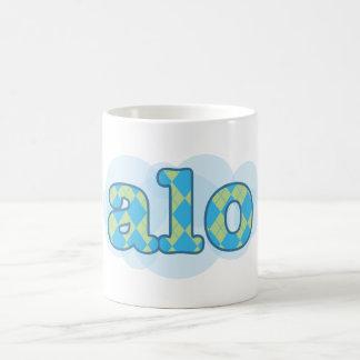 Hello in creole - alo mugs