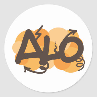 Hello in Creole - alo Sticker