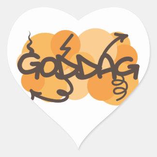 Hello in Danish - Goddag Heart Sticker