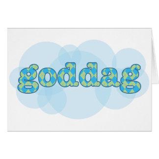 Hello in Danish - Goddag with argyle pattern Card