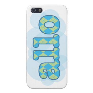 Hello in french allo in argyle pattern iPhone SE/5/5s case