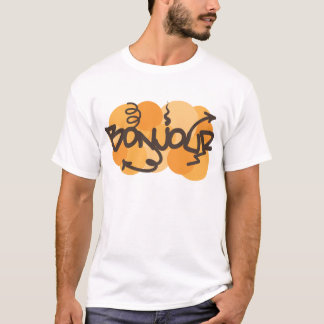 Hello in French Bonjour graffiti T-Shirt