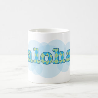 Hello in Hawaiian - Aloha with argyle pattern Coffee Mug