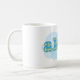 Hello in Hawaiian - Aloha with argyle pattern zazzle_mug