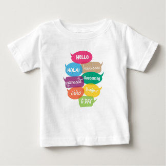 Hello in many languages typography kids T-shirt