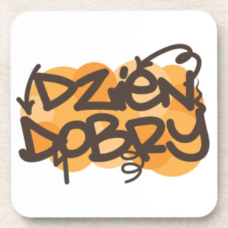 Hello in Polish graffiti style Beverage Coaster