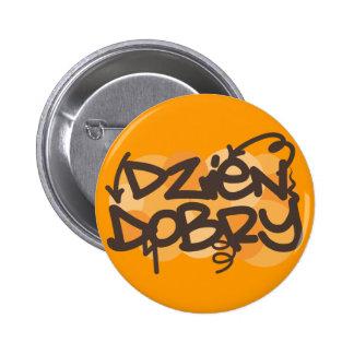 Hello in Polish graffiti style Pinback Button
