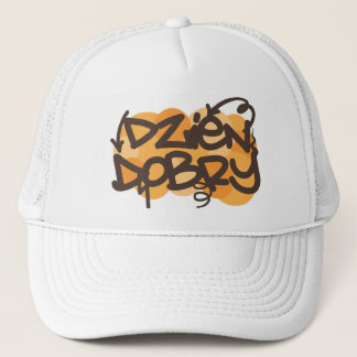 Hello in Polish graffiti style Trucker Hat