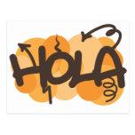Hello in Spanish Postcard