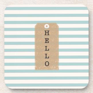 """ Hello "" iPhone case Drink Coaster"