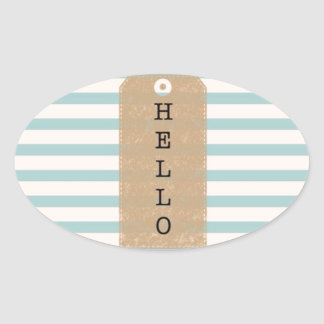 """ Hello "" iPhone case Oval Sticker"