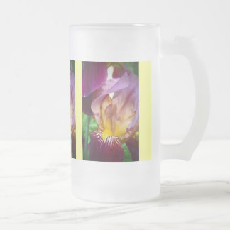 Hello Iris Frosted Glass Beer Mug