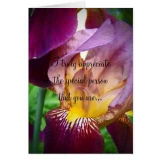 Hello Iris Greeting Card
