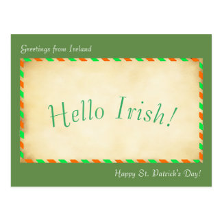 Hello Irish for postcard