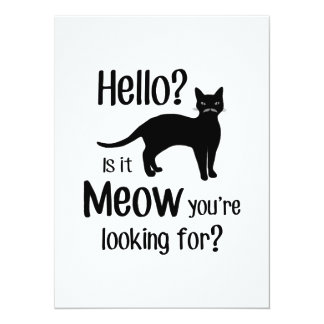 Hello is it meow you are looking for card