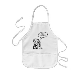 Hello? Is This The OUTSIDE WORLD?! Retro Housewife Kids' Apron