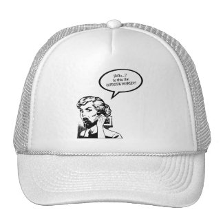 Hello? Is This The OUTSIDE WORLD?! Retro Housewife Trucker Hat
