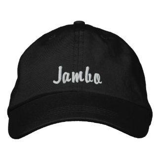 Hello Jambo Swahili Kenya greeting pink Embroidered Baseball Hat
