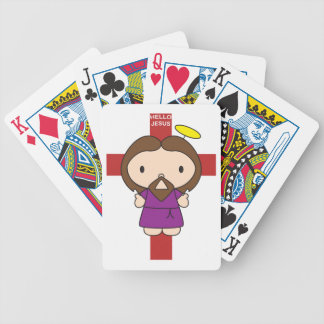 Hello Jesus Bicycle Playing Cards