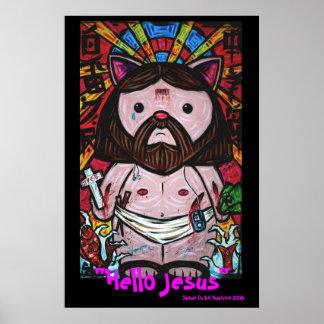 """""""Hello Jesus"""" Poster"""