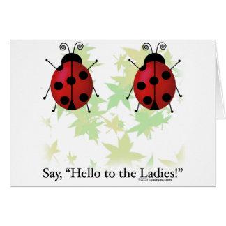 Hello Ladies Greeting Card