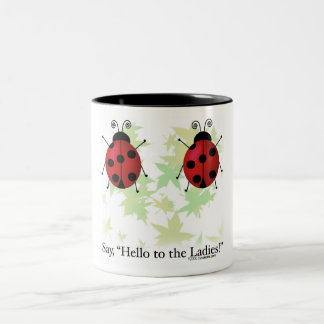 Hello Ladies Two-Tone Coffee Mug